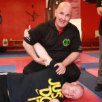 Sam Markey teaching on the KAPAP level 1 self defence instructor course telford