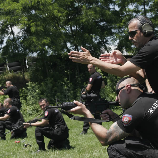 Special Serbian Police units training KAPAP close quarter combat a modern self defence system