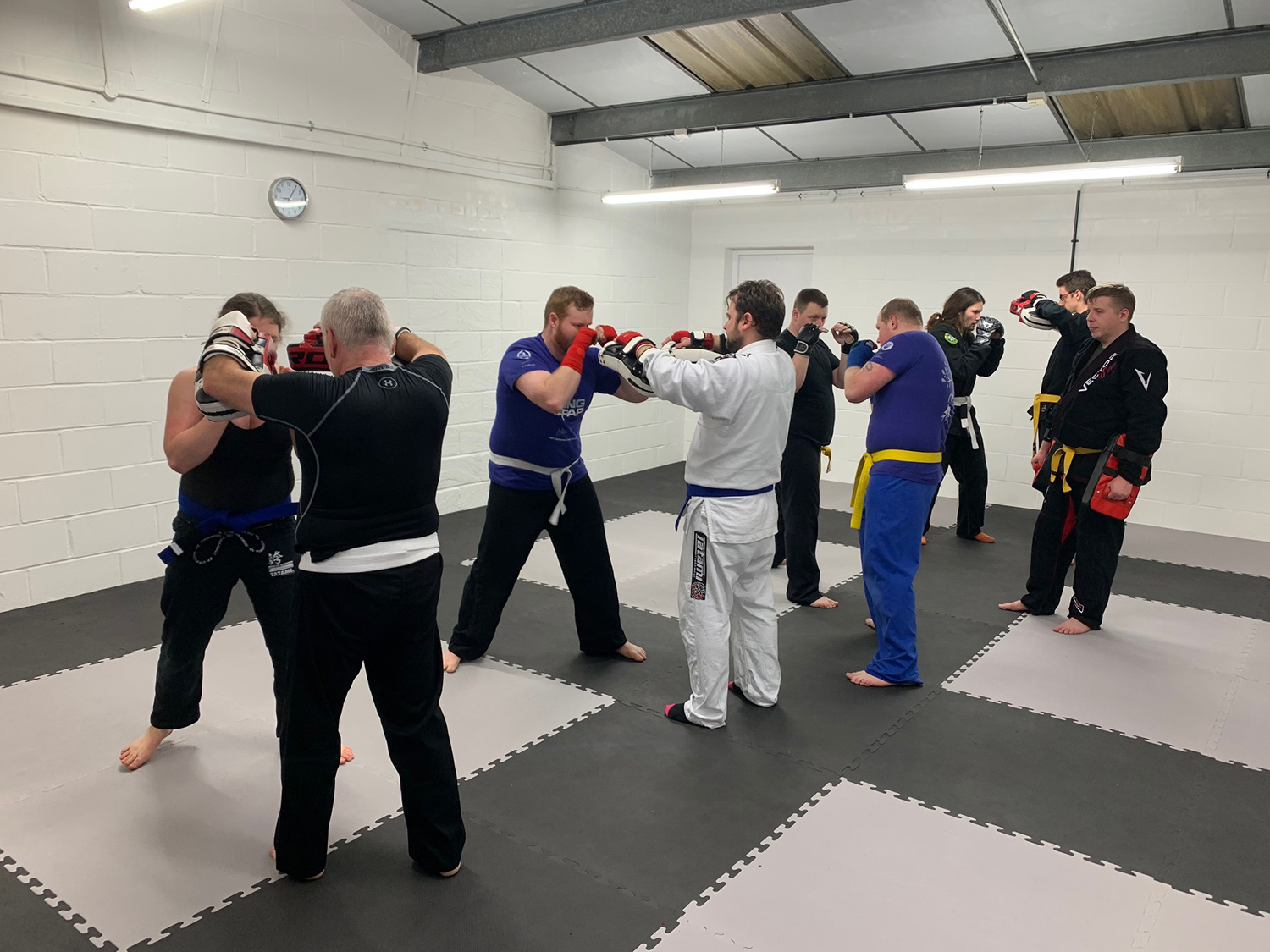 First class at the Viking Dojo and get turn out, plenty enough room for us