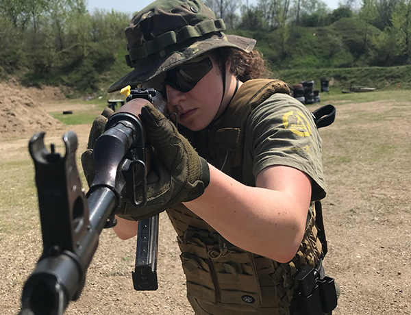 Rosina Kavanagh Level 1 Viking KAPAP instructor /Level 1 GROM firearms instructor